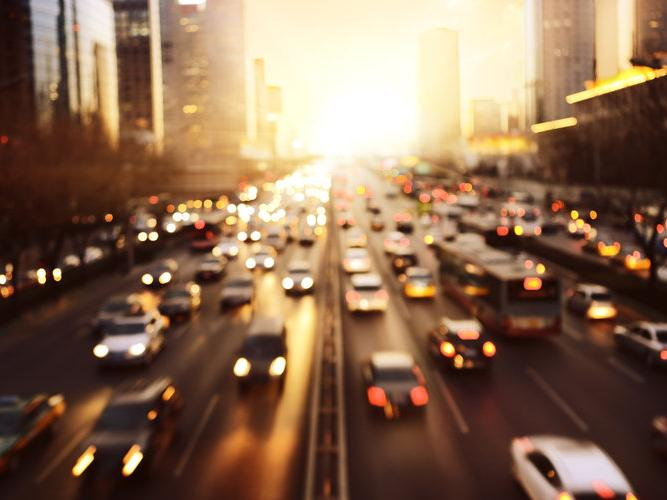 Transportation network: rush hour on an higway